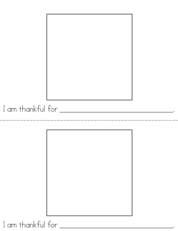 I am thankful! Mini Book - Sheet 1