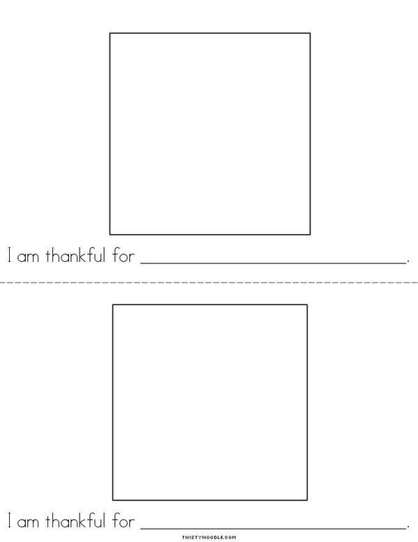I am thankful! Mini Book - Sheet 2
