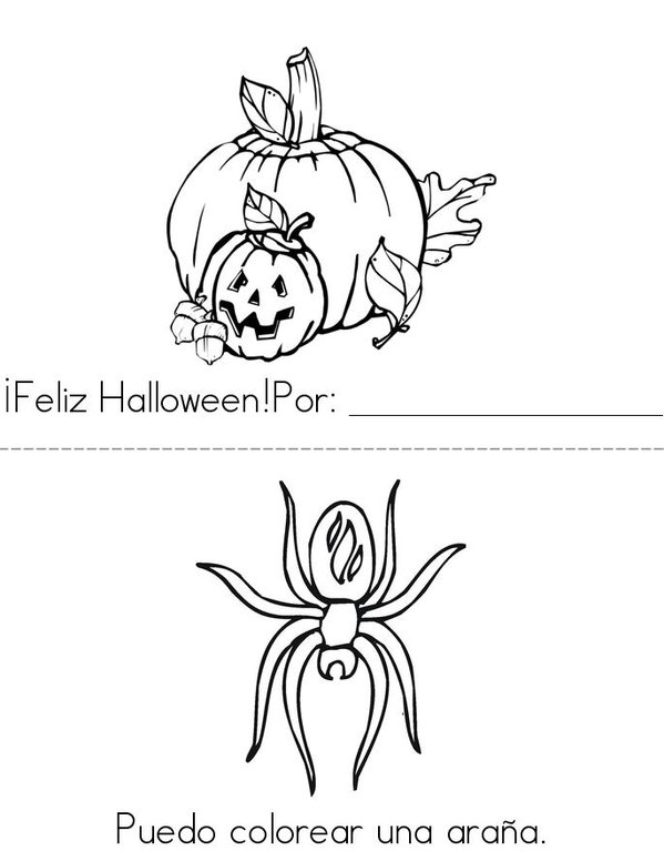 Feliz Halloween! Mini Book - Sheet 1