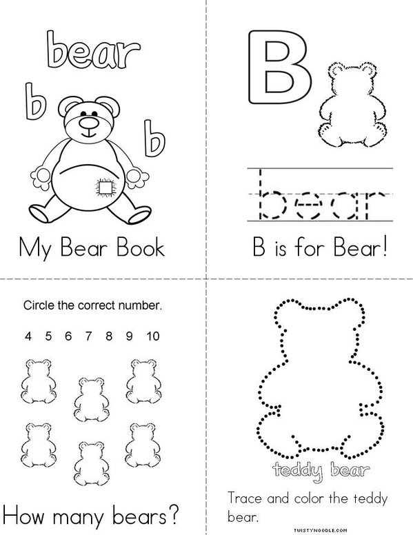 Bear Mini Book