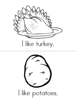 I like Thanksgiving! Book
