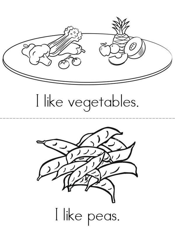 I like Thanksgiving! Mini Book - Sheet 2