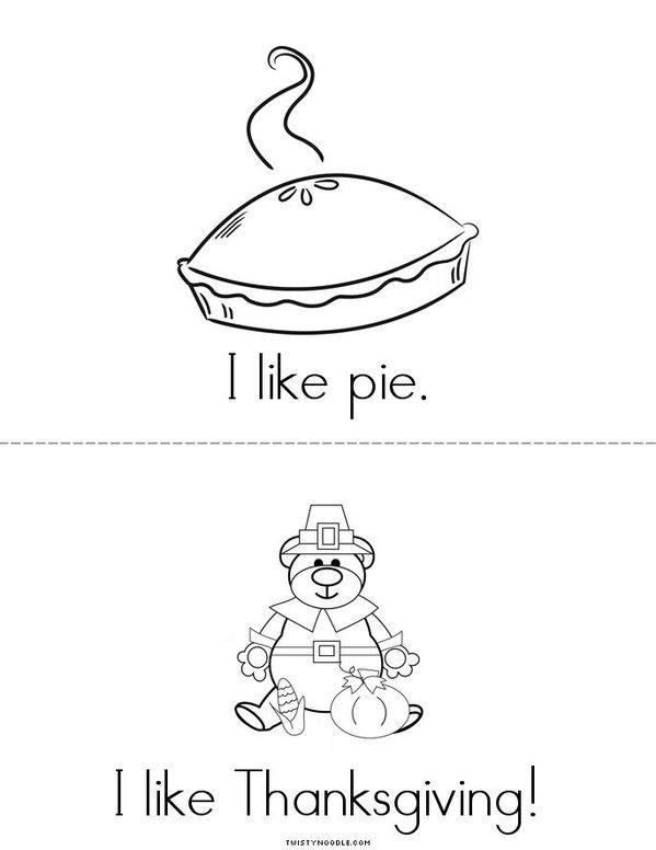 I like Thanksgiving! Mini Book - Sheet 3