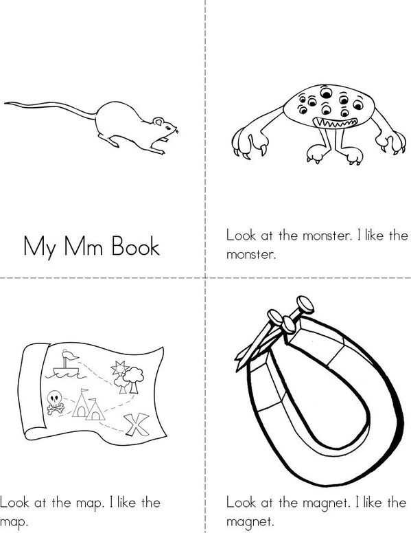 My Mm Mini Book - Sheet 1