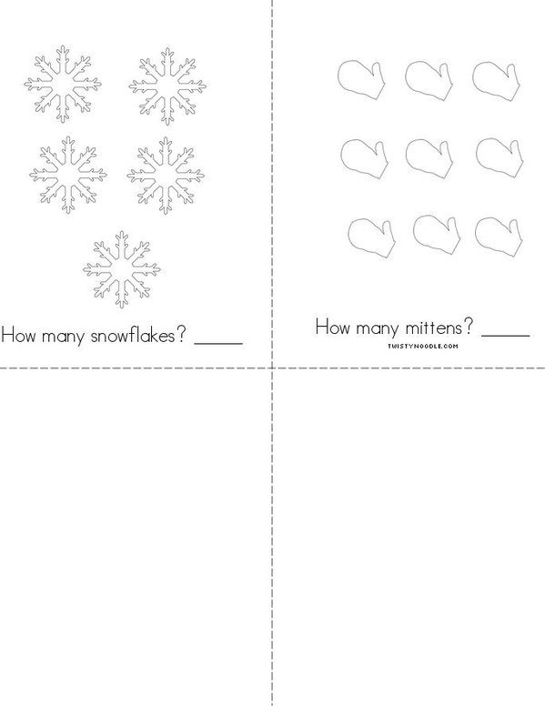 Hello Winter! Mini Book - Sheet 2