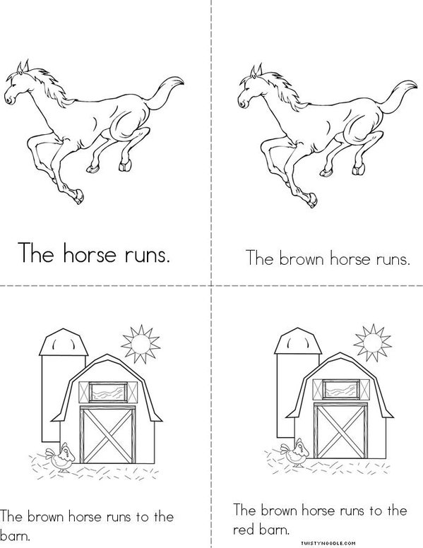 The Horse Runs Mini Book