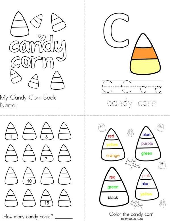 Candy Corn Mini Book