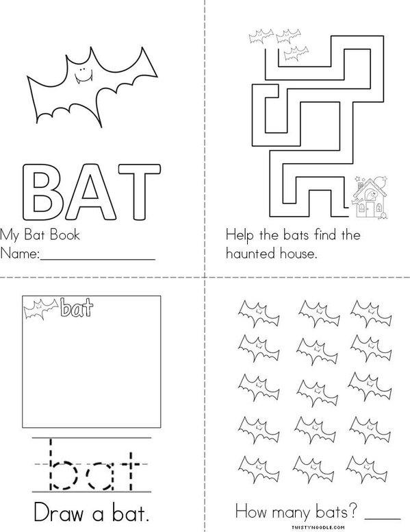 Bat Book Mini Book