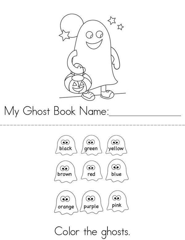 Ghost Book Mini Book - Sheet 1