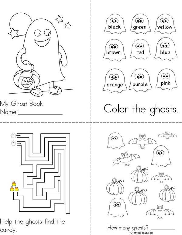 Ghost Book Mini Book