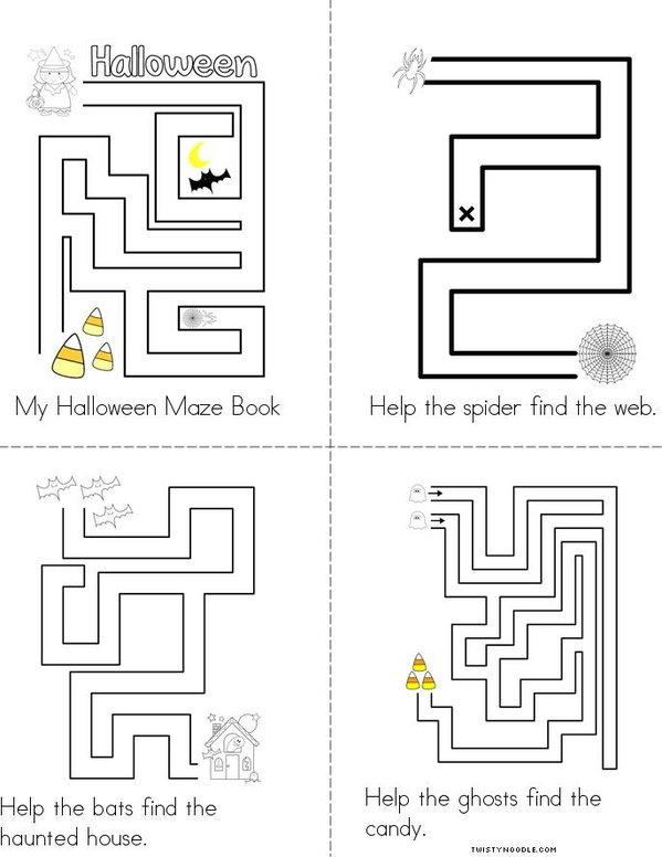 Halloween Maze Mini Book