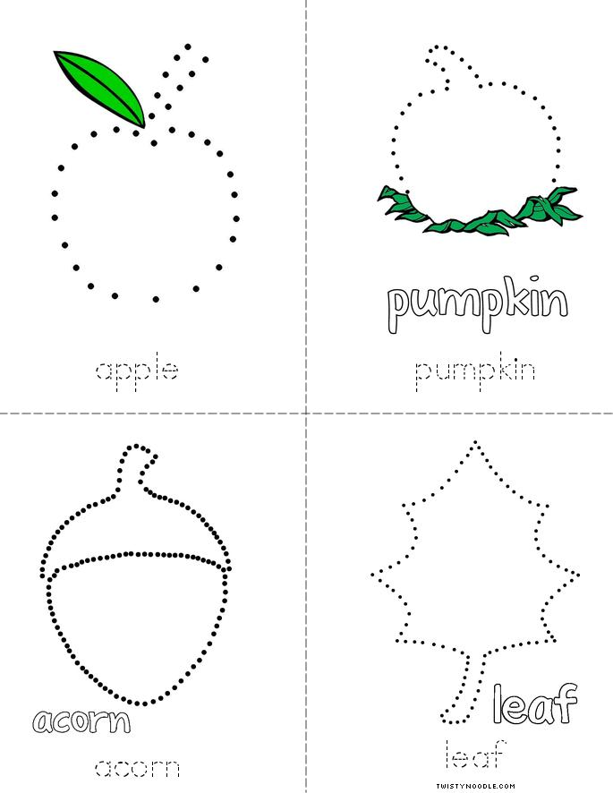Fall Tracing Book - Twisty Noodle