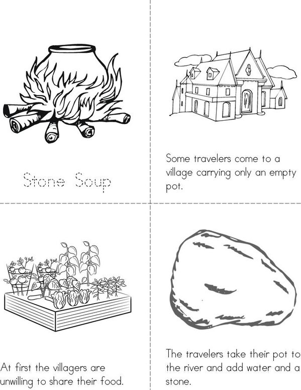 Stone Soup Mini Book - Sheet 1