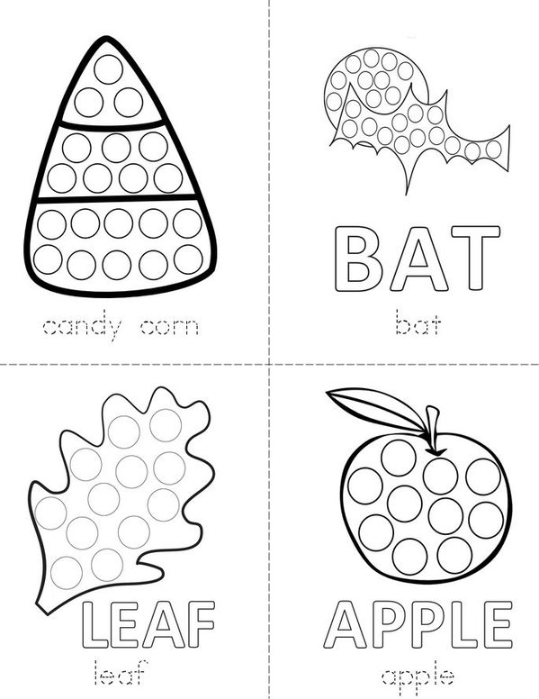 Halloween Dot Painting Mini Book - Sheet 1