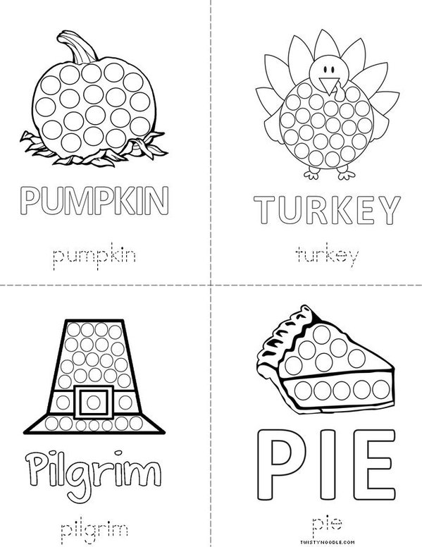 Thanksgiving Dot Mini Book