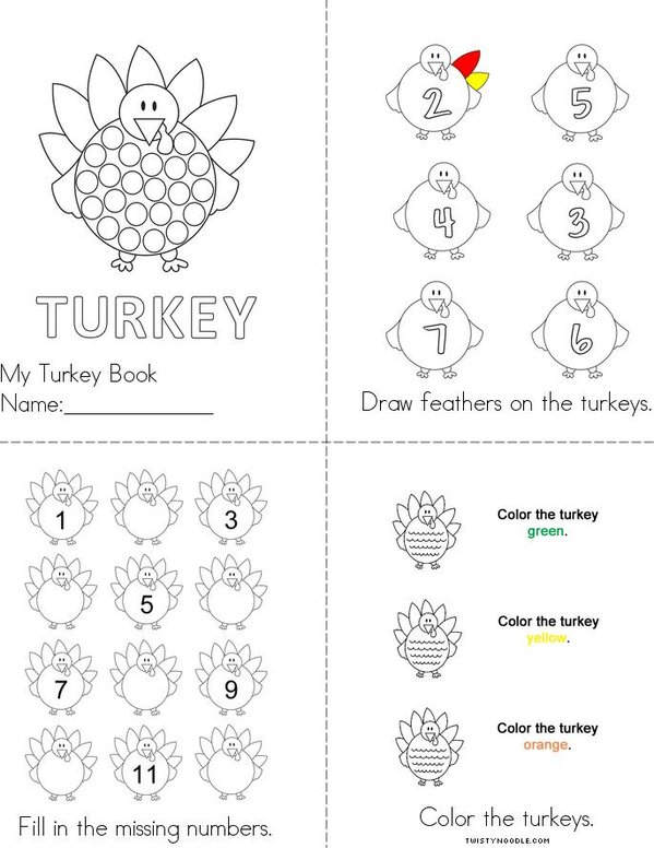 Turkey Mini Book