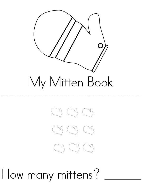 My Mitten Book Mini Book - Sheet 1