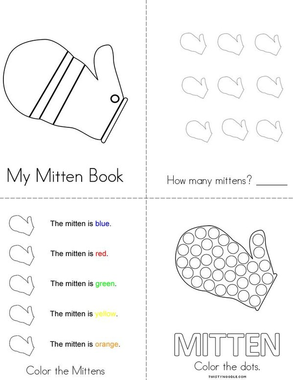 My Mitten Book Mini Book