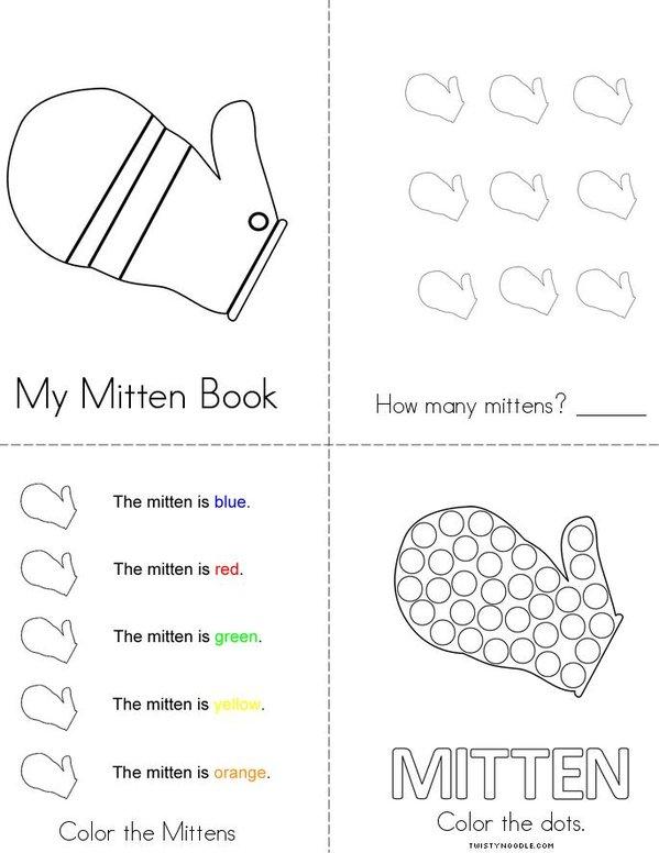 My Mitten Book Mini Book