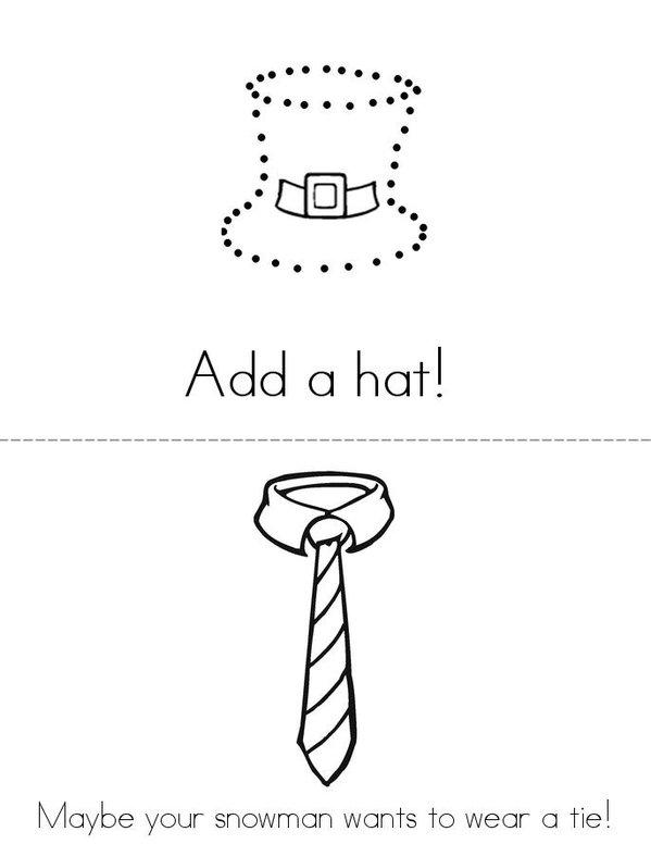 How to make a snowman Mini Book - Sheet 2