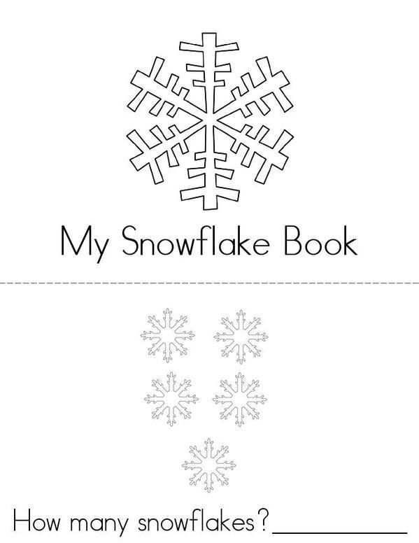 Snowflake Activity Book Mini Book - Sheet 1