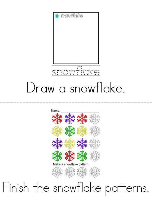 Snowflake Activity Book Mini Book - Sheet 2