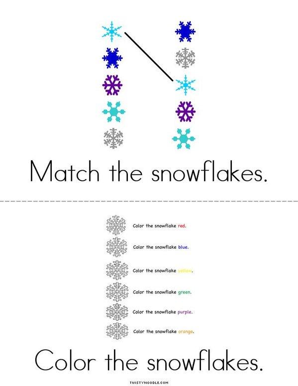 Snowflake Activity Book Mini Book - Sheet 3