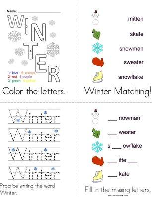 Winter Activity Book