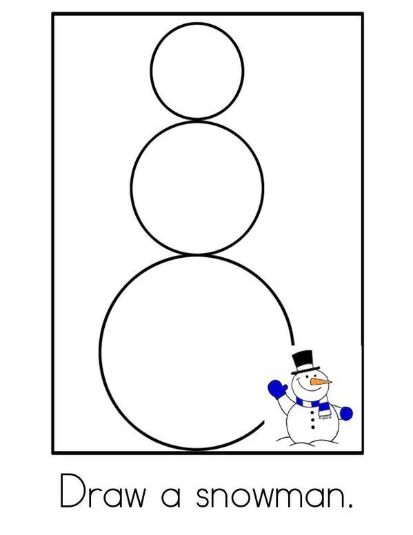 Snowman Activity Book Mini Book - Sheet 2