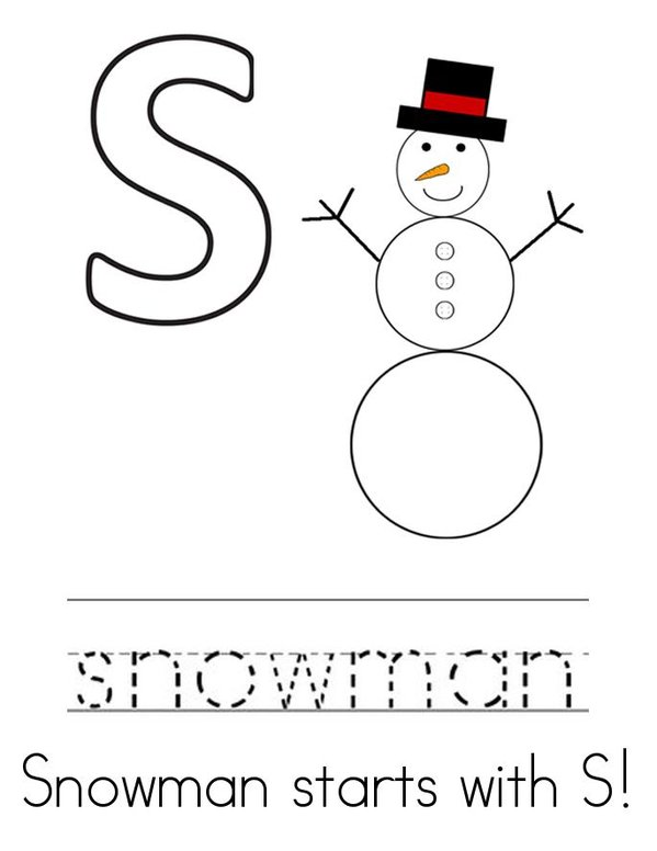 Snowman Activity Book Mini Book - Sheet 3