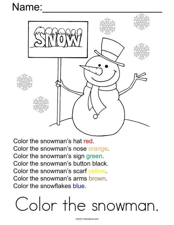 Snowman Activity Book Mini Book - Sheet 6