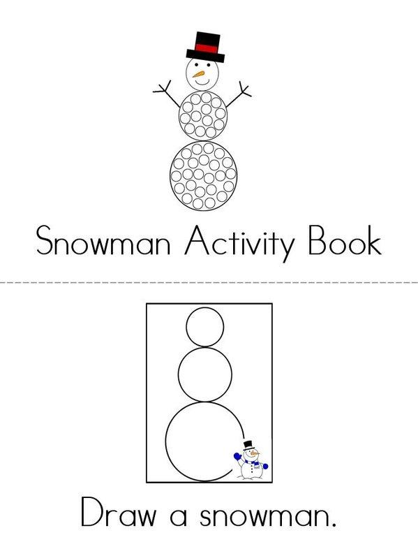 Snowman Activity Book Mini Book - Sheet 1