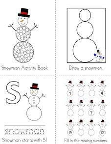 Snowman Activity Book