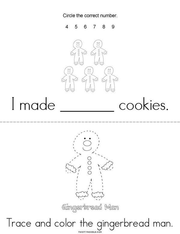 My Gingerbread Man Book - Twisty Noodle