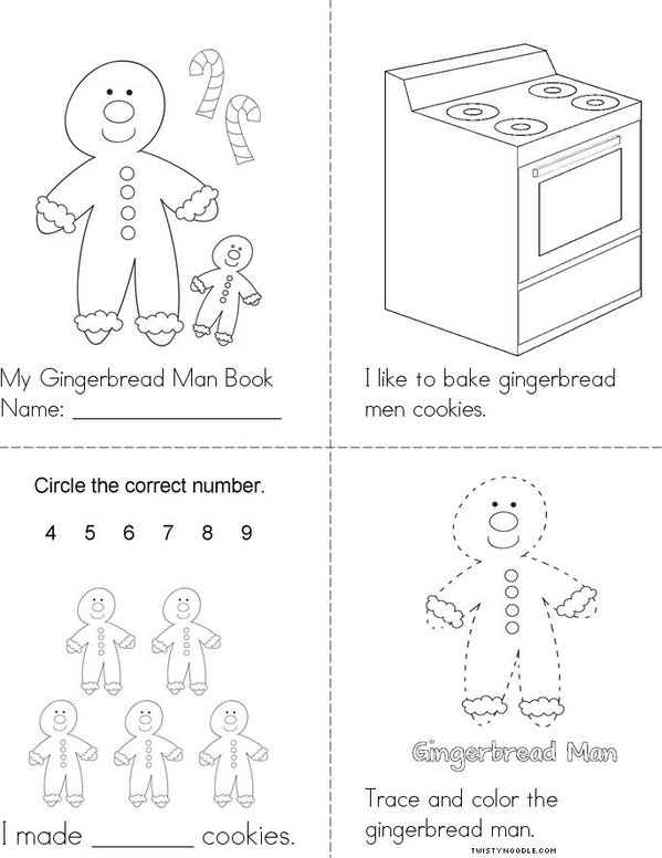 My Gingerbread Man Book Mini Book