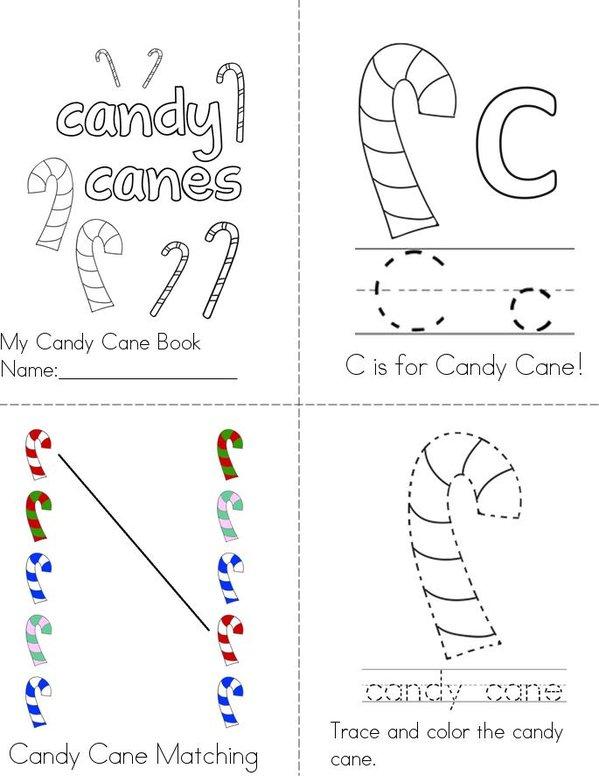 My Candy Cane Book Mini Book - Sheet 1
