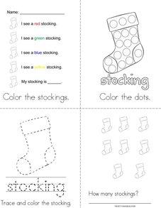 Stocking Activity Book