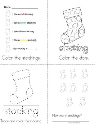 Stocking Activity Book