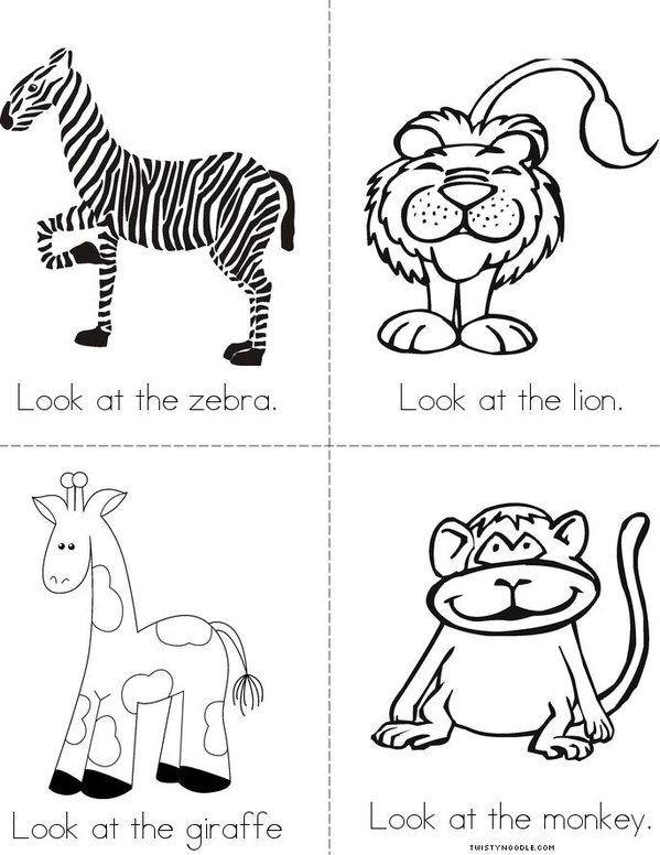The Zoo Mini Book