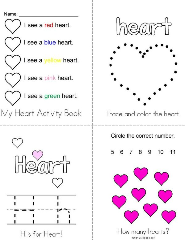 My Heart Activity Book Mini Book