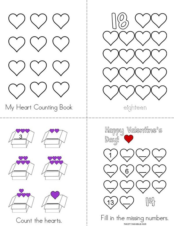 My Heart Counting Book Mini Book