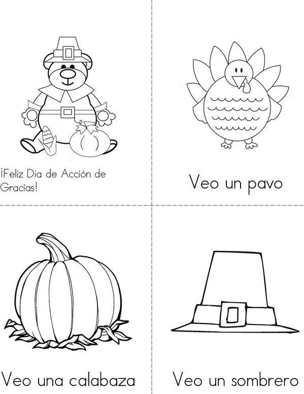 Día de Acción de Gracias Mini Book - Sheet 1