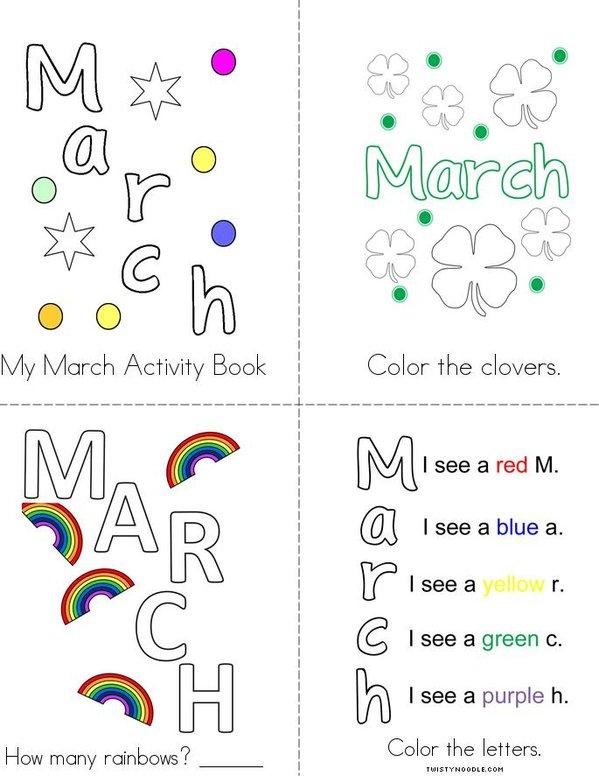 March Activity Book Mini Book