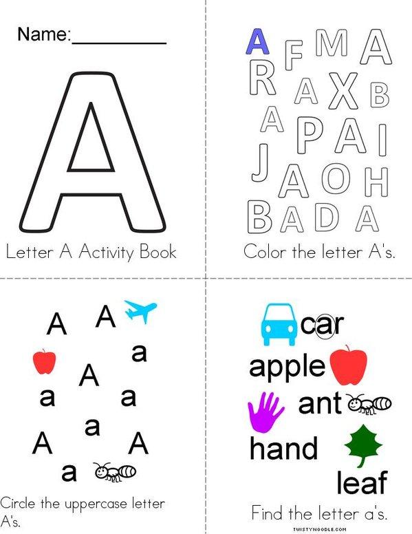 Letter A Activity Book Mini Book