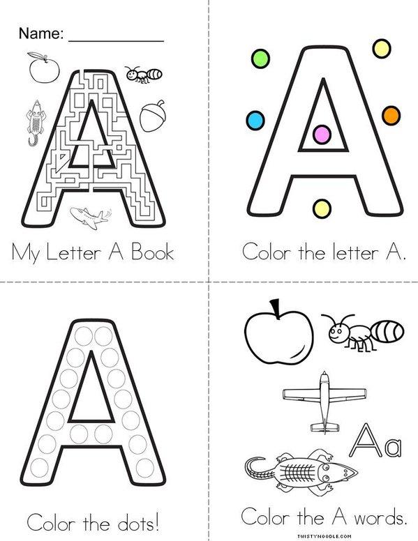 Letter A Fun! Mini Book