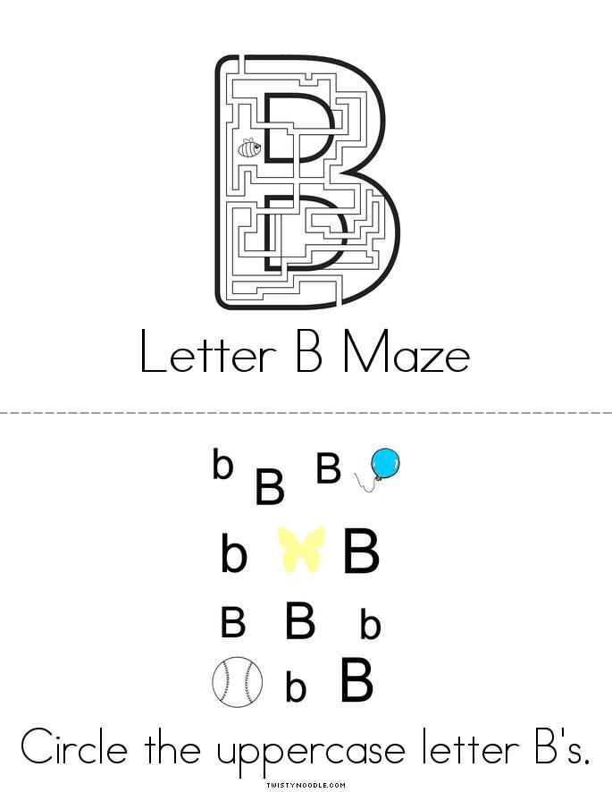Letter B Activity Book - Twisty Noodle