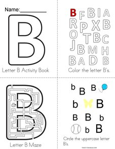 Letter B Activity Book