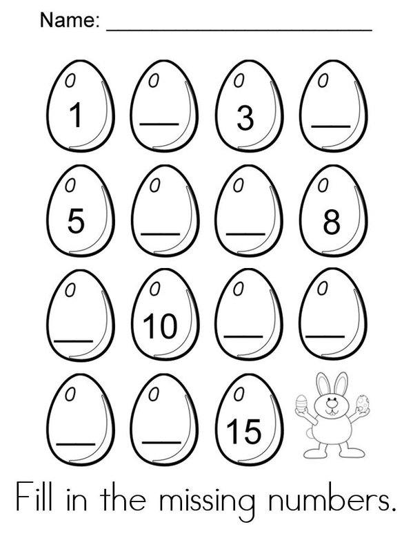 Easter Activity Book Mini Book - Sheet 1
