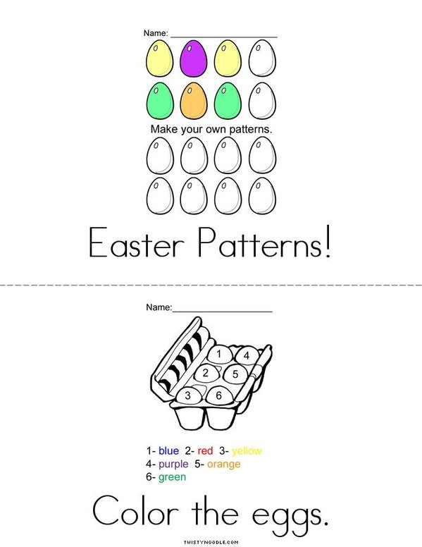 Easter Activity Book Mini Book - Sheet 2