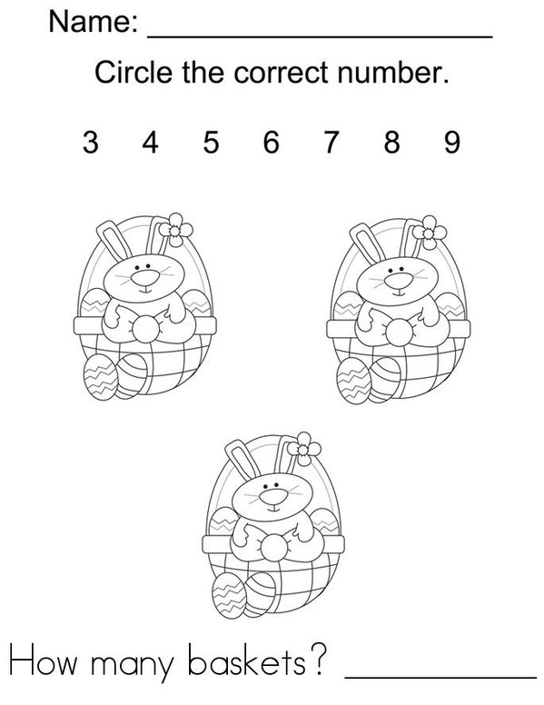 Easter Counting Mini Book - Sheet 1
